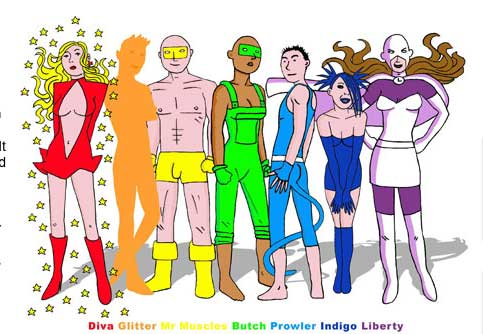 SpandexCharacters Super heros ..... gay
